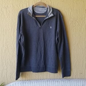 Gray & silver Polo sweater with zipper